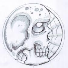 skull and spiderweb sketch by vikingtattoo on deviantart