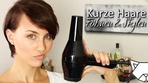 Bob Frisuren Kurzes Deckhaar by Kurze Haare Pixie Föhnen Stylen