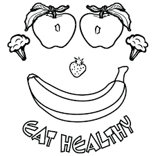 Good Healthy Food Coloring Pages For Kids With P Vonsurroquen Me Food Color Pages