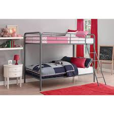 dhp twin over twin metal bunk bed 5417096 the home depot