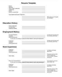 Free Job Resume by Job Resume Jobresumes On Pinterest