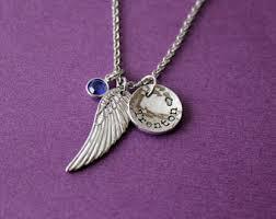 Personalized Memorial Necklace Memorial Necklace Etsy