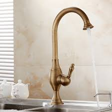 kitchen faucet brass buy asbestos deck mount rotatable antique brass single handle
