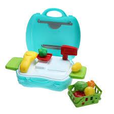 kit de cuisine enfant portable fruits magasin boutique boîte outil kit enfants enfants