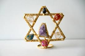 ephod stones beautiful gold of david with 7 stones representing the tribes