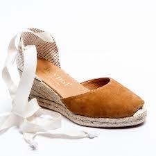 espadrille co uk low wedge espadrilles closed toe tan lace up sandals