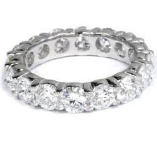 womens wedding band 5 carat lab created eternity ring womens wedding band 14k