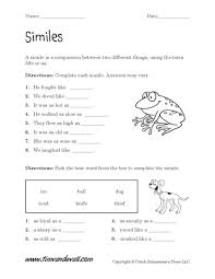 simile worksheet this gentleman has many educational tools for