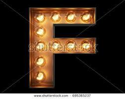 light bulb glowing letter alphabet character stock illustration