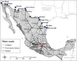 mexico toll road map mexico s networks modeling the smuggling routes towards the