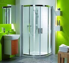 Nice Small Bathrooms Green Small Bathroom With Rounded Corner Shower Area For Fresh