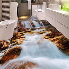 3d flooring white waterfall rocks 3d floor mural photo flooring wallpaper home
