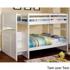 White Bunk Bed With Stairs Maxtrix Stacker Low Bunk Bed With Stairs Matrix Kids Furniture