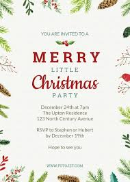 christmas dinner invitation templates u2013 halloween u0026 holidays wizard