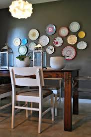 The Dining Rooms Decorative Plates On The Wall Of The Dining Room Small Design Ideas