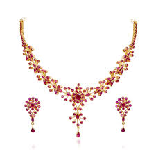 gold necklace with stones images Gold earrings designs with price in grt ruby jewellery designs jpg