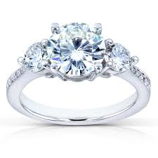 engagement rings stones images Forever one d f moissanite and diamond three stone engagement jpg