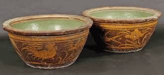 Large Chinese Vases Antique Asian Decor Fish Bowls Or Garden Pots From Jiangsu