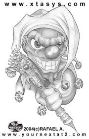 clown drawing tattoos book 65 000 tattoos designs