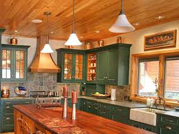 Green Country Kitchen Kitchen With Green Painted Cabinets Zach Hooper Photo