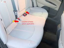 rear seat removal instructions kia hyundai