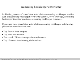 Bookkeeper Resume Samples by Cover Letter Bookkeeper