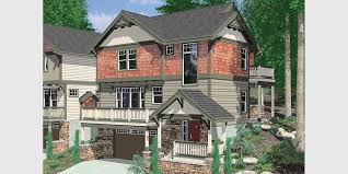 craftsman house plans with basement sloping lot house plans hillside house plans daylight basements