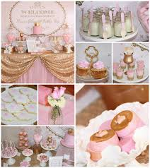 pink and gold decorations for a