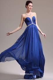 beaded strapless pleated navy blue chiffon elegant long prom dress