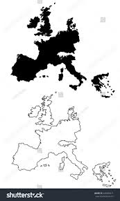 Map Of The Europe by Contour Map Europe Stock Illustration 245683471 Shutterstock