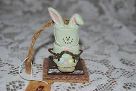 s mores easter bunny rabbit ornaments cracker marshmallow chocolate