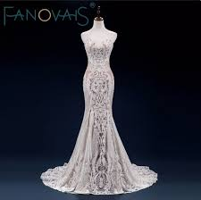 lace mermaid wedding dresses 2018 vintage lace mermaid wedding dress turkey vestido de novia