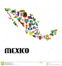 Mexico Map by Poster Mexico Map Stock Vector Image 55963601