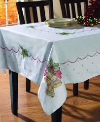 Christmas Table Cloths by Amazon Com Bucilla Stamped Cross Stitch Tablecloth 60 By 90 Inch
