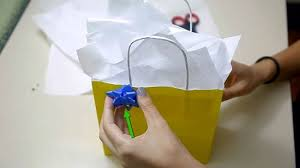 gift tissue paper how to put tissue paper in a gift bag 15 steps with pictures
