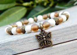 beaded butterfly bracelet images Nature inspired butterfly bracelet stoneriverjewelry JPG