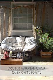 Leather Papasan Cushion by Grace Langdon Art Double Papasan Chair Cushion Tutorial Easy