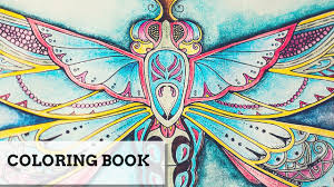 coloring book the enchanted forest dragonfly youtube