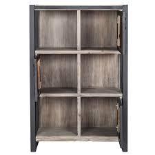 Bookcase With Door Bronx Modern Bookshelf With Doors