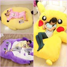 Beanbag Bed Home Accessory Pikachu Giant Bed Pillow Bed Huge Pikachu Bed