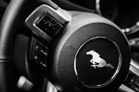 steering wheel for mustang 2015 ford mustang steering wheel emblem 0259bw photograph by
