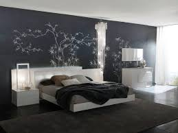 elegant black best paint colours for bedrooms with white bed of