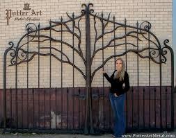 potter metal studios wrought iron tree gates