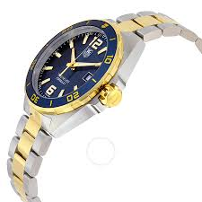 gold tone bracelet watches images Tag heuer formula 1 navy blue dial two tone men 39 s watch waz1120 jpg