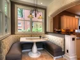 Breakfast Booth Kitchen Design Corner Dining Room Table L Shaped Room L