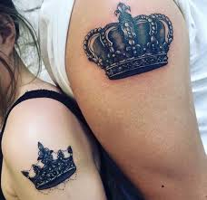 bewitching king and queen u0027s crown tattoo creativefan