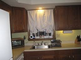 kitchen country style stripes kitchen window curtain ideas with