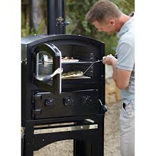 Outdoor Pizza Oven Fire Pizza Oven Smoker Black By Alfresco Home Thos Baker
