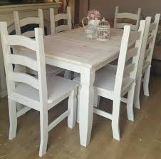 solid mexican pine shabby chic table and 6 chairs can deliver f u0026b