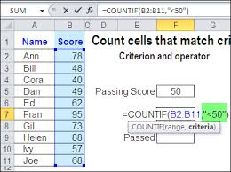 count cells greater than set amount with excel countif function